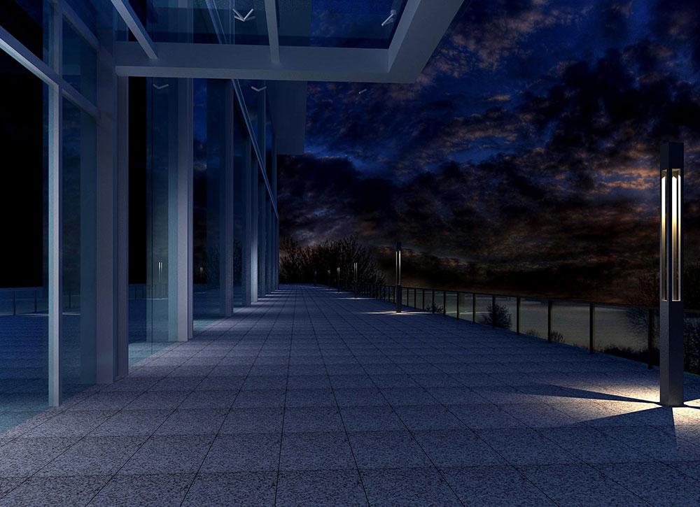 主馆楼梯景观灯